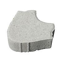Pavé autobloquant Blooma Crocus ton pierre 19 x 17 cm, ép.6 cm