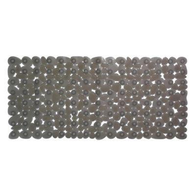 Tapis de bain antidérapant gris 33 x 71 cm Galets