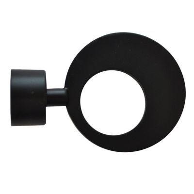 Embout rond plat Colours Oslo noir mat Ø20 mm