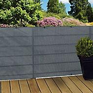 Ecran tressé polyester Blooma gris 3 x h.1 m
