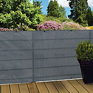 Ecran tressé polyester Blooma gris 3 x h.1,5 m