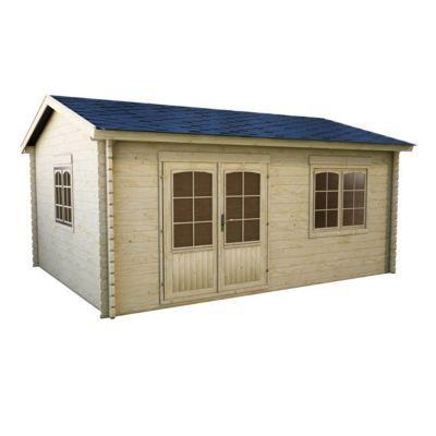 abri de jardin bois blooma new vantaa 19 3m castorama. Black Bedroom Furniture Sets. Home Design Ideas
