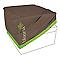 Housse de fauteuil Blooma taupe et vert 95 x 95 x 60 cm
