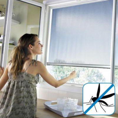 moustiquaire de fen tre en alu blanc protek 125 x cm. Black Bedroom Furniture Sets. Home Design Ideas