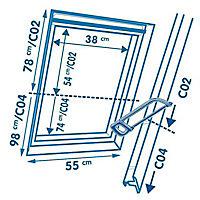Store duo fenêtre de toit Geom C02 beige
