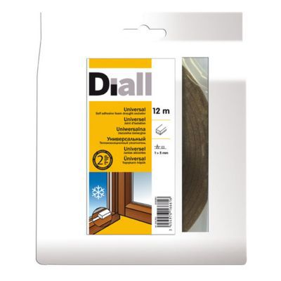 Joint mousse adhésif DIALL 1 à 5 mm marron L.12 m