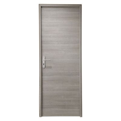 Bloc porte geom summa gris clair 63cm poussant droit for Porte interieur point p