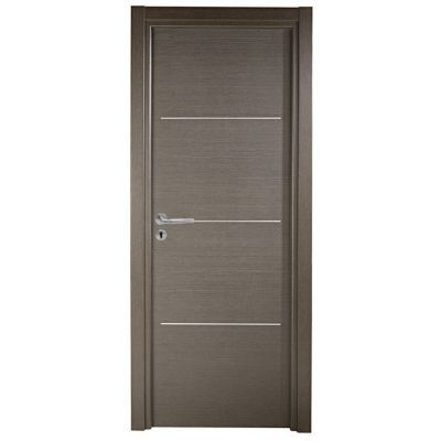 bloc porte geom triaconta gris clair 63cm poussant droit castorama. Black Bedroom Furniture Sets. Home Design Ideas