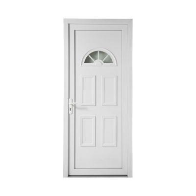 Porte d'entrée pvc Geom 1/2 lune 80 x h.215 cm poussant gauche