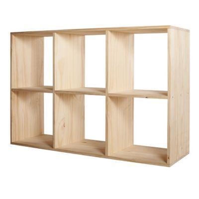 étagère Modulable 6 Cubes Pin Mixxit Castorama