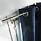 2 supports sans percage COLOURS Chris chrome mat Ø20 mm