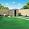 Abri de jardin métal Blooma Sligo taupe 2,20m²