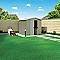 Abri de jardin métal Blooma Cellbridge taupe 4,04m²