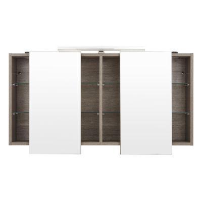 Armoire miroir décor chêne clair Cooke & Lewis Calao 120 cm