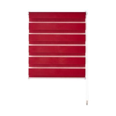- Type de store : Store jour nuit - Opacité : Tamisant - Modèle : Elin - Matière : Tissu - Composition matière : Polyester - Couleur de base : Rouge - Coloris : Rouge - Motif : Uni - Hauteur du store (cm) : 170 - Largeur du store hors mécanisme (cm) : 37