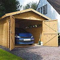 Garage bois Blooma Arne 13 m²