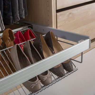 Porte chaussures 75 cm Darwin. Dimensions : 60,5 x 51 x h.19,6 cm. Porte chaussures : Acier finition poudre époxy. Fixations : ABS. Cadre vendu séparément.