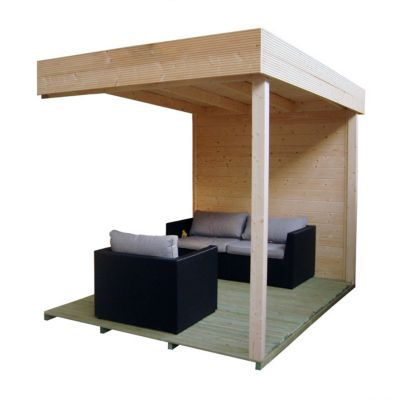 pergola terrasse universelle pour abri de jardin bois blooma castorama. Black Bedroom Furniture Sets. Home Design Ideas