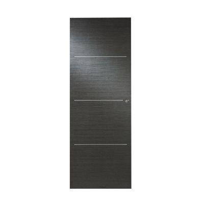 porte coulissante geom triaconta gris 73 cm castorama. Black Bedroom Furniture Sets. Home Design Ideas