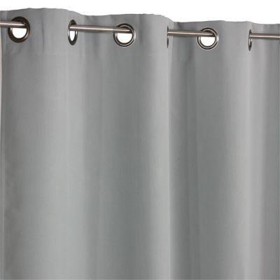 Rideau occultant digory Béton 140 x 250 cm. Caractéristiques techniques du rideau : - Matière : 100% polyester. Dimensions : l. 140 x H. 250 cm. Coloris : Béton. Finition : œillets métal.