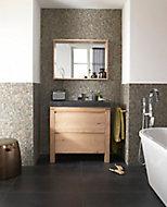 Ensemble de salle de bains Harmon 90 cm meuble sous-vasque + plan vasque pierre