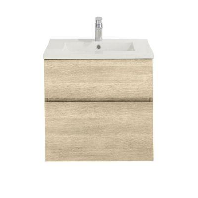 Meuble sous vasque chêne naturel COOKE & LEWIS Calao 60 cm