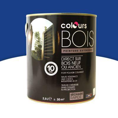 Peinture bois int rieur ext rieur colours bleu matelos - Peinture bois exterieur castorama ...