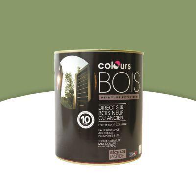 Peinture Bois Intérieur/Extérieur Colours Vert Provence Satin 2,5L