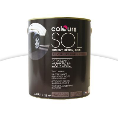 peinture sol colours premium blanc satin 2 5l castorama. Black Bedroom Furniture Sets. Home Design Ideas