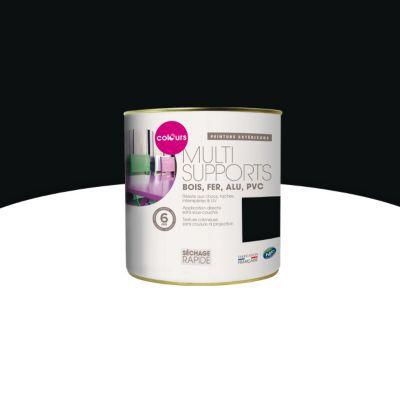 peinture multi supports ext rieur colours noir mat 0 25l castorama. Black Bedroom Furniture Sets. Home Design Ideas