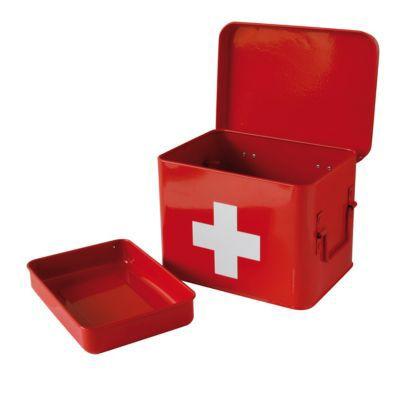 Boîte à pharmacie métal rouge COOKE & LEWIS petit modèle
