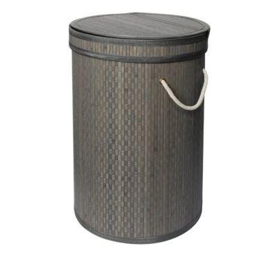 panier linge bambou gris papangue castorama. Black Bedroom Furniture Sets. Home Design Ideas