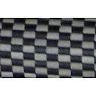 Tapis de bain antidérapant noir et gris 90 x 60 cm Okaido