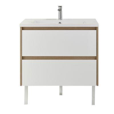 Meuble sous vasque blanc brillant COOKE & LEWIS Oreti 80 cm