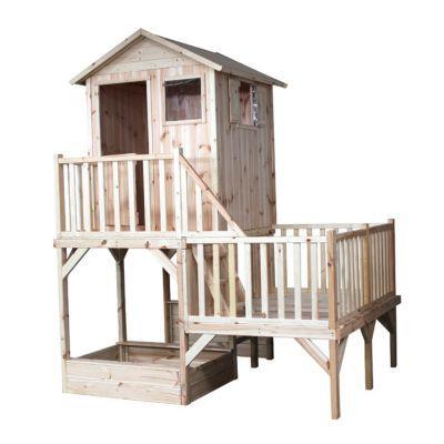 maisonnette bois blooma jania castorama. Black Bedroom Furniture Sets. Home Design Ideas