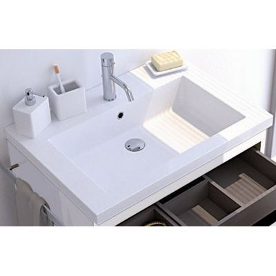 Plan vasque résine COOKE & LEWIS Belice 70 cm