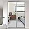 Porte De Placard Coulissante Miroir Gris Form Valla 62 2 X