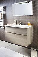 Ensemble de salle de bains Calao 90 cm clair plan vasque en résine