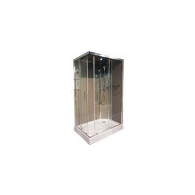 Cabine de douche ouverture gauche taupe Cooke & Lewis Dive Easy 120 x 80 cm