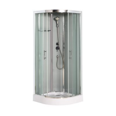 cabine de douche grise cooke lewis dive easy 90 x 90 cm. Black Bedroom Furniture Sets. Home Design Ideas