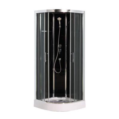 Cabine de douche noire cooke lewis dive easy 90 x 90 cm