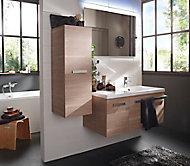 Ensemble de salle de bains Belice bois 105 cm gauche