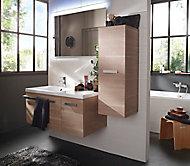 Ensemble de salle de bains Belice bois 105 cm droit