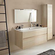 Ensemble de salle de bains Calao 120 cm naturel plan-vasque en résine