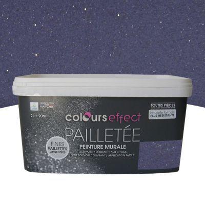 Peinture  Effet Paillettes Colours Myrtille Mat Paillet L  Castorama