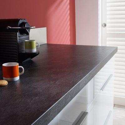 plan de travail stratifi aspect ardoise infinite 300 x 64. Black Bedroom Furniture Sets. Home Design Ideas