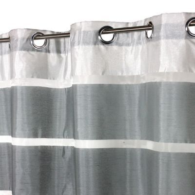 Voilage COLOURS Nayo rayé gris 140 x 300 cm