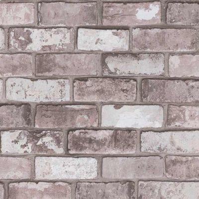 Papier peint vinyle sur intissé COLOURS Arcelot brique gris rosé