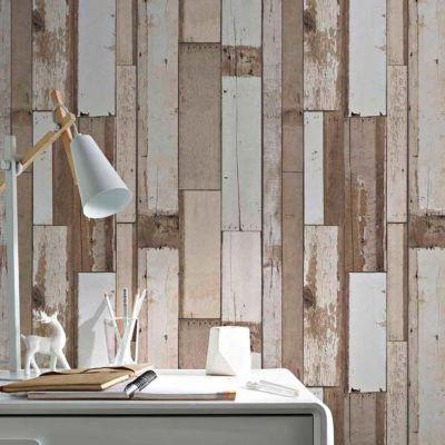Papier peint vinyle sur intissé COLOURS Arcelot bois naturel