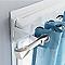 2 supports sans percage pour caisson acier Colours Snow blanc Ø20 mm